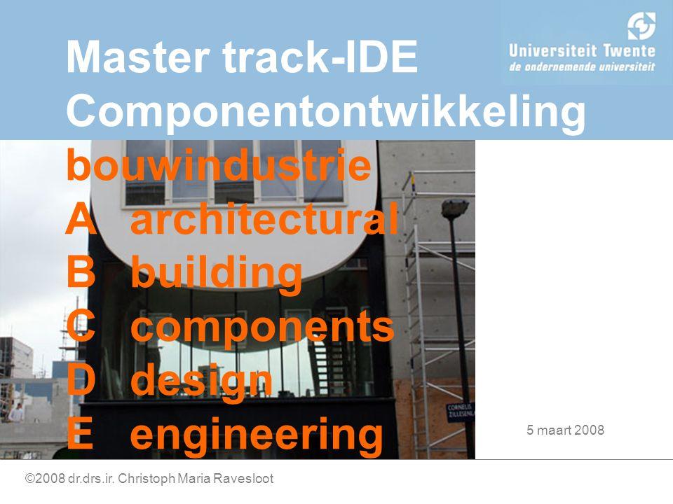 Componentontwikkeling Techniek Project Samenwerking Externe dynamiek Techniek Project Samenwerking