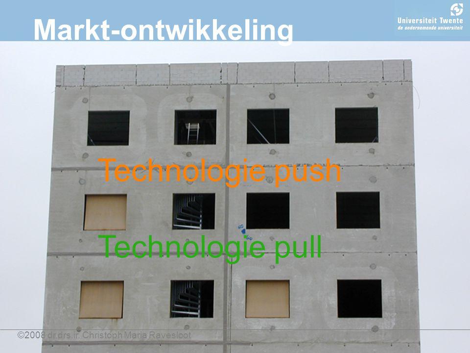 ©2008 dr.drs.ir. Christoph Maria Ravesloot Markt-ontwikkeling Technologie push Technologie pull
