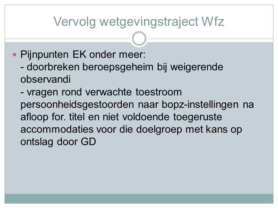Wvggz - Wetgevingstraject Gewijzigd wetsvoorstel op 30 september 2013 naar Tweede Kamer gestuurd.
