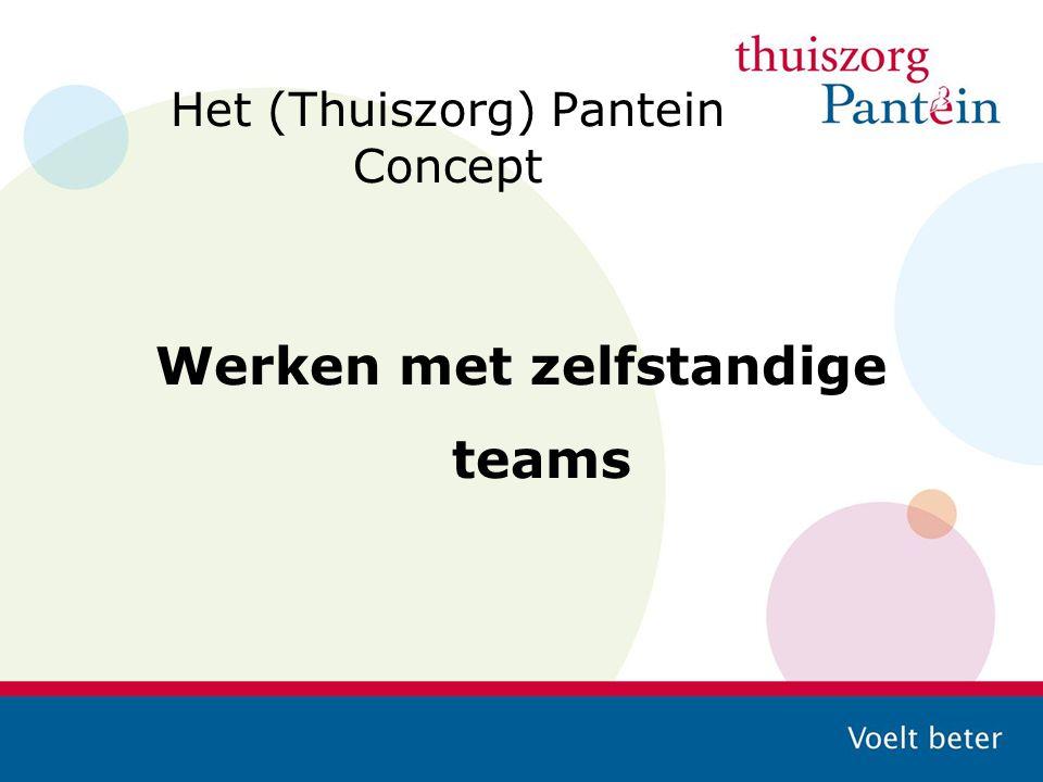 Het (Thuiszorg) Pantein Concept Werken met zelfstandige teams