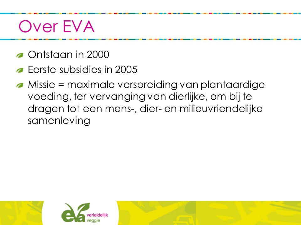 EVA informeert en sensibiliseert: - het grote publiek - professionals in de horeca - de gezondheidssector - de landbouw- en voedingssector - het middenveld - de media - het onderwijs - andere domeinen via diverse kanalen, producten en diensten