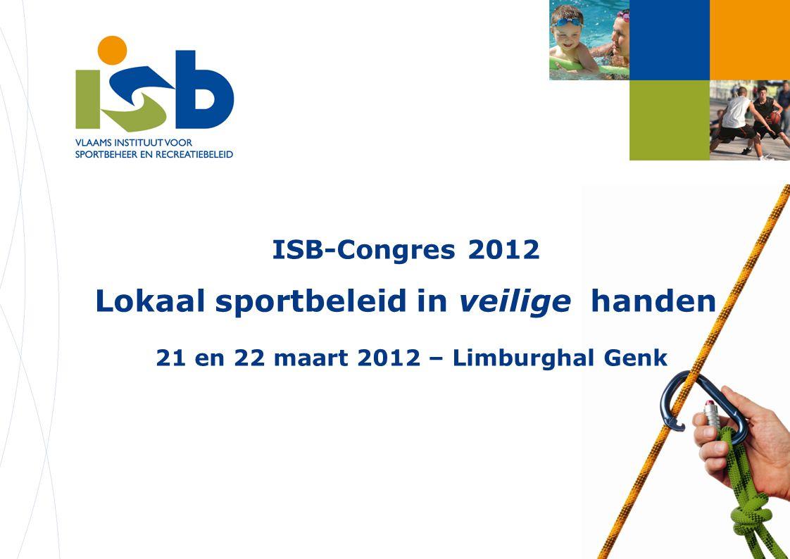 ISB-Congres 2012 Beheer Jeugdsportnet Interlokale vereniging (ILV) tussen 3-tal gemeenten Deeltijdse tewerkstelling coördinator (met middelen uit de eigen begroting) Complexe projecten