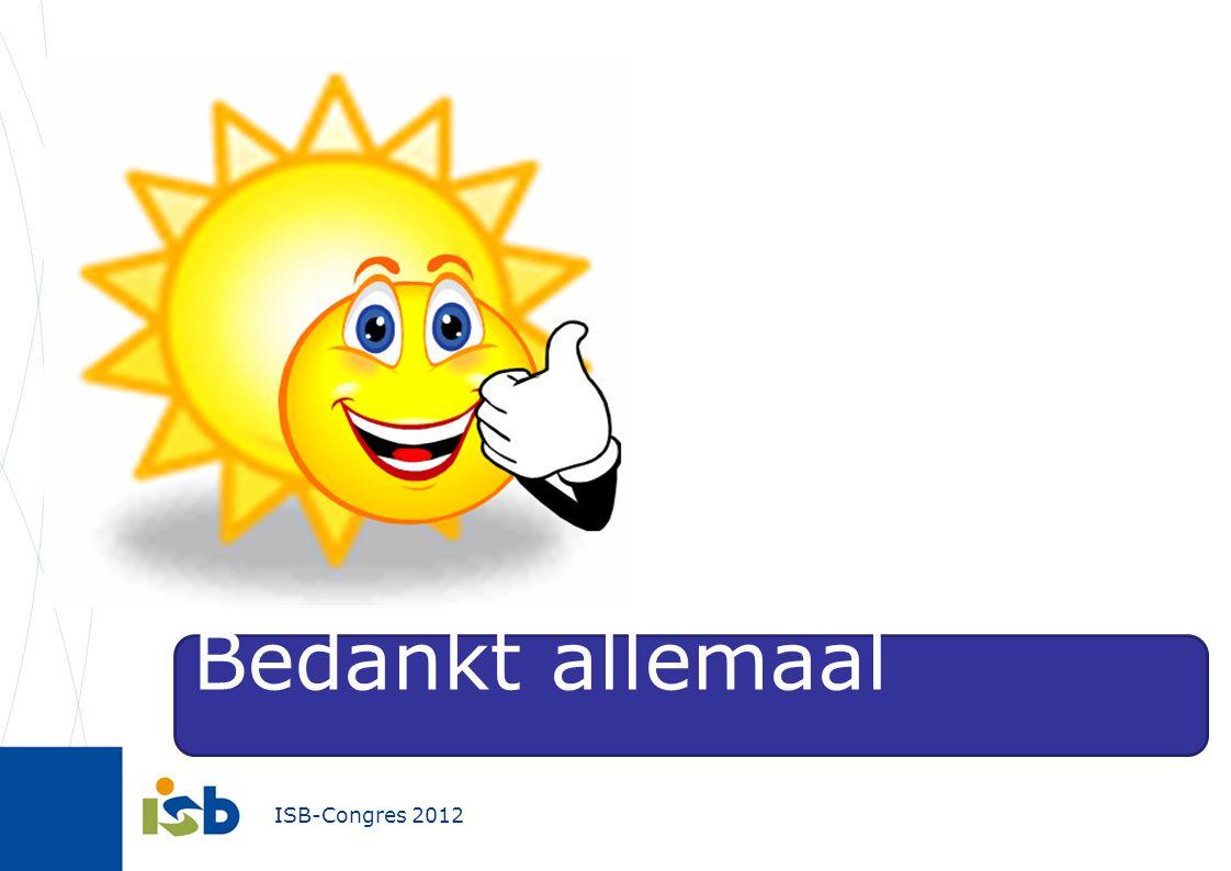 ISB-Congres 2012 Bedankt allemaal