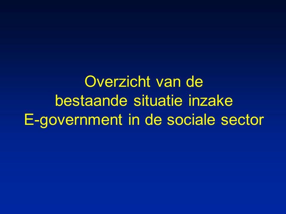 Overzicht van de bestaande situatie inzake E-government in de sociale sector