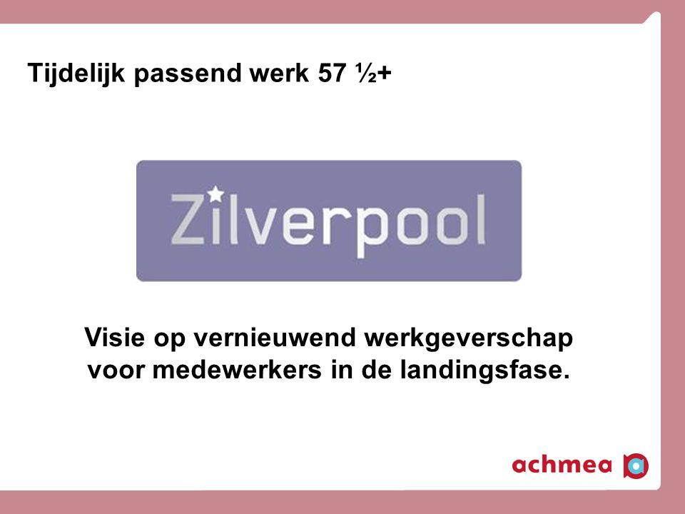 Tijdelijk passend werk 57 ½+ Visie op vernieuwend werkgeverschap voor medewerkers in de landingsfase.