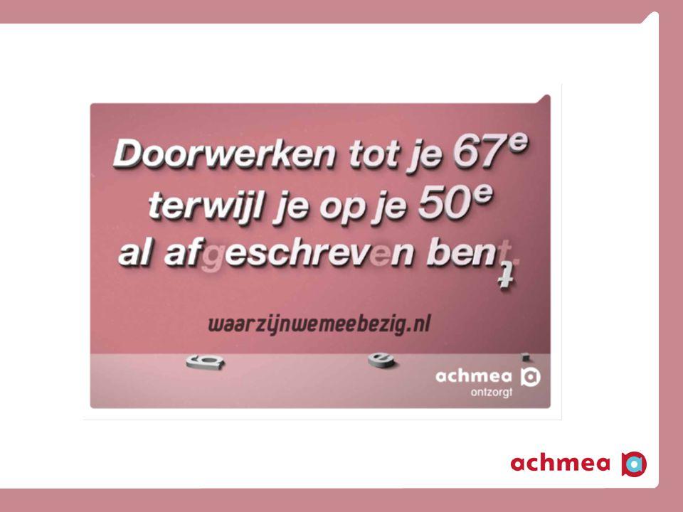 Inhoud presentatie Achmea ( – kernactiviteiten – merkenpalet - kernlocaties) Vernieuwend werkgeverschap Sociaal Plan De Zilverpool Vragen – opmerkingen – discussie
