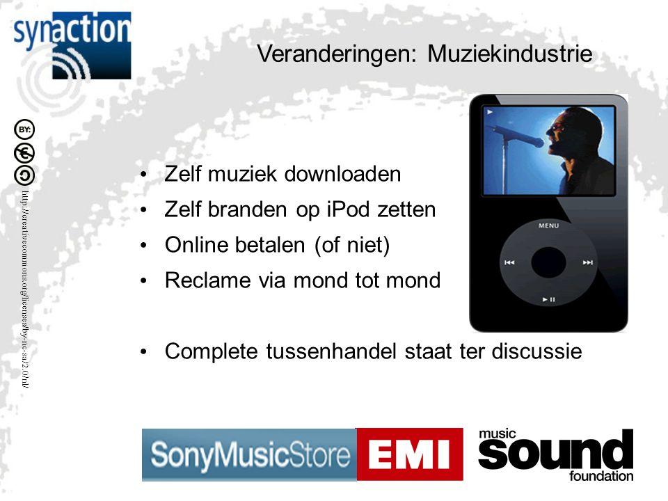 http://creativecommons.org/licenses/by-nc-sa/2.0/nl/ Diverse markten met nieuwe models Muziek industrie Reis & Toerisme branche Banking & Financiëele dienstverlening Veroorzaakt door technologie uit 1975 - 1990