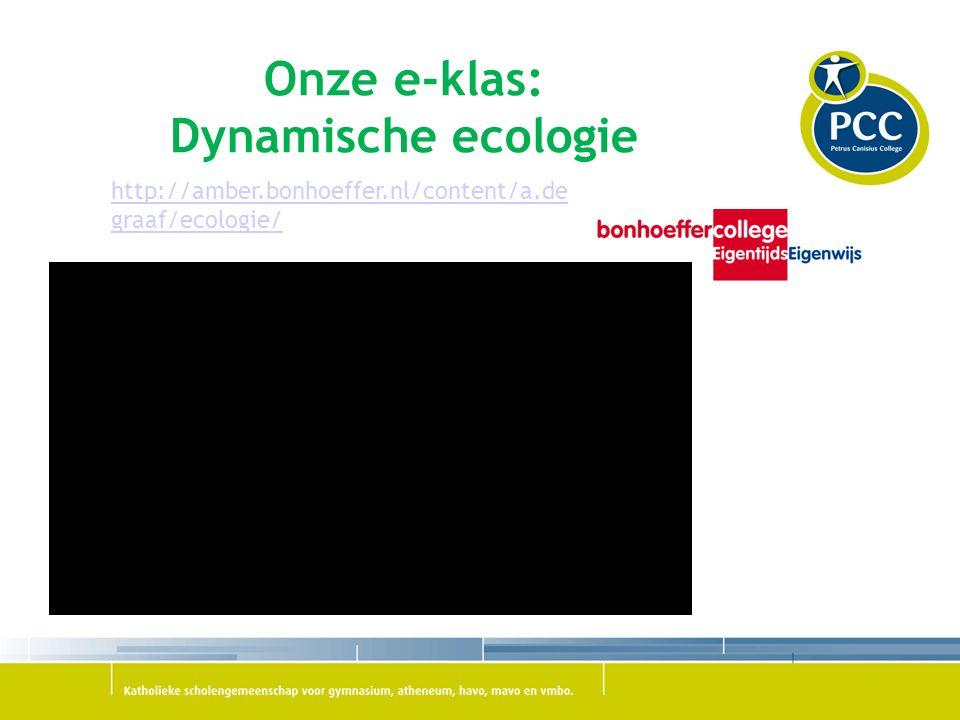 Onze e-klas: Dynamische ecologie http://amber.bonhoeffer.nl/content/a.de graaf/ecologie/