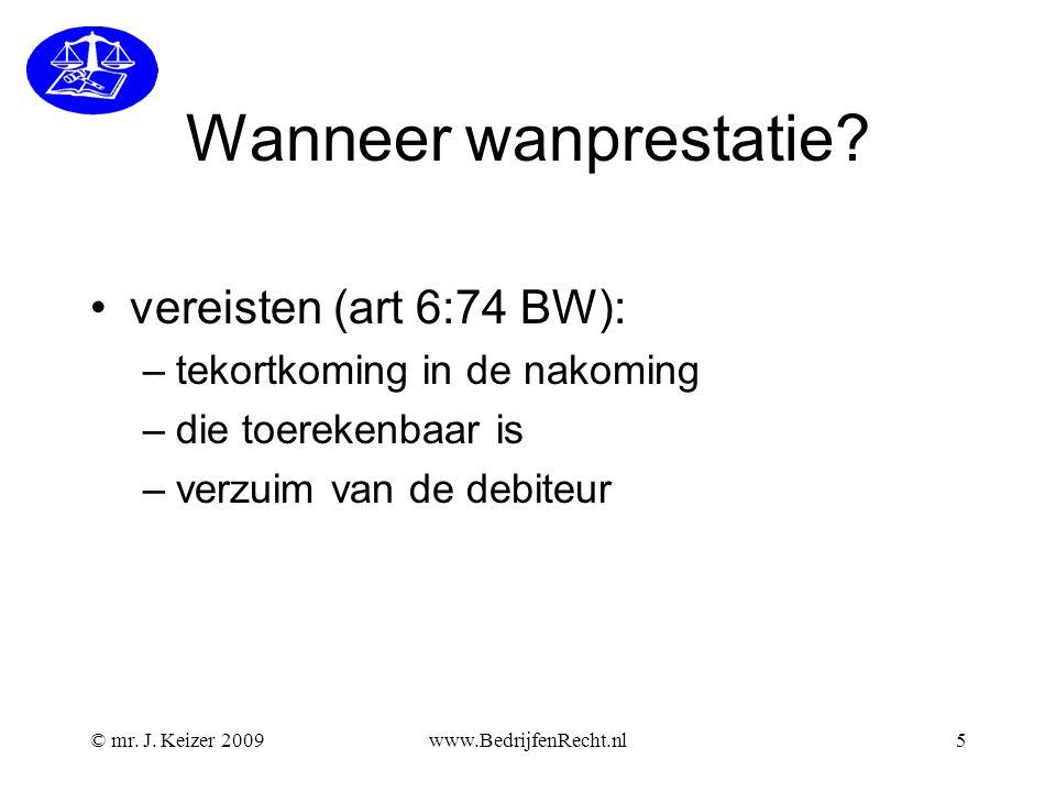 www.BedrijfenRecht.nl16 Verplichtingen van de verkoper de verkoper heeft verplichtingen (art 7:9 BW): a.eigendomsoverdracht b.aflevering van de zaak c.de zaak moet beantwoorden aan de overeenkomst