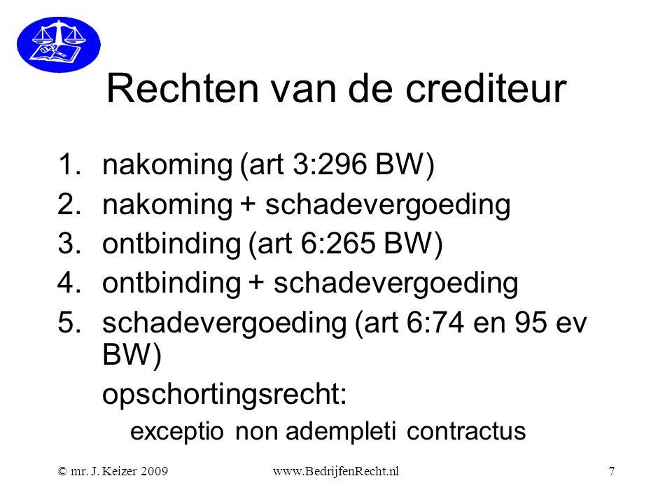 www.BedrijfenRecht.nl28 Wetenswaardigheden ruilen van een product is geen wettelijk recht van de consument tegoedbonnen hoeft een consument niet te accepteren zonder bon geen rechten.