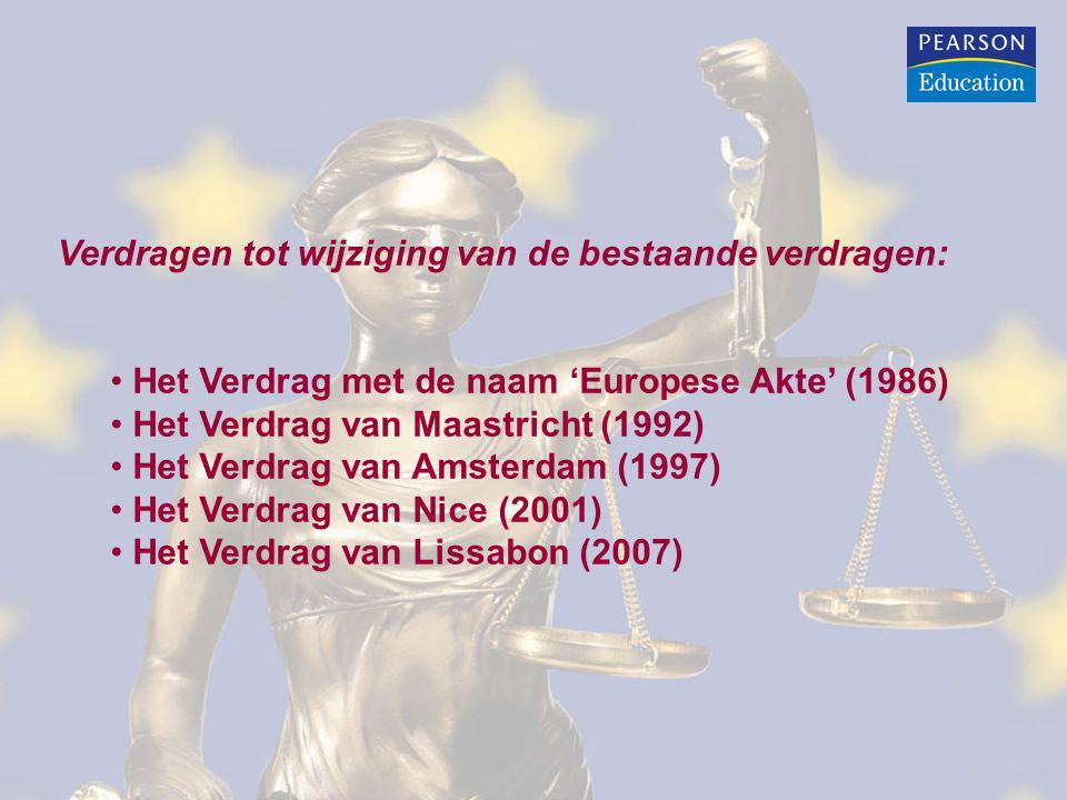 Verdrag met de naam 'Europese Akte': Nieuwe datum voor totstandbrenging interne markt: 31 december 1992 Verbetering van de bevoegdheden van het Europees Parlement