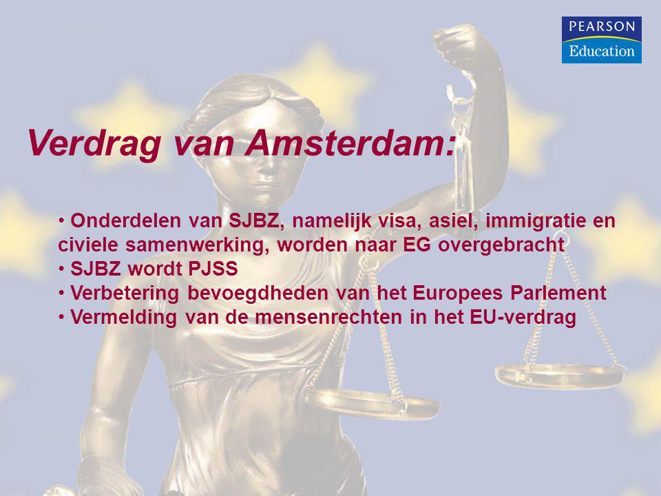 Verdrag van Nice: Verbetering bevoegdheden van het Europees Parlement Wijziging besluitvorming binnen de Raad in verband met verwachte toetreding van 10 nieuwe lidstaten
