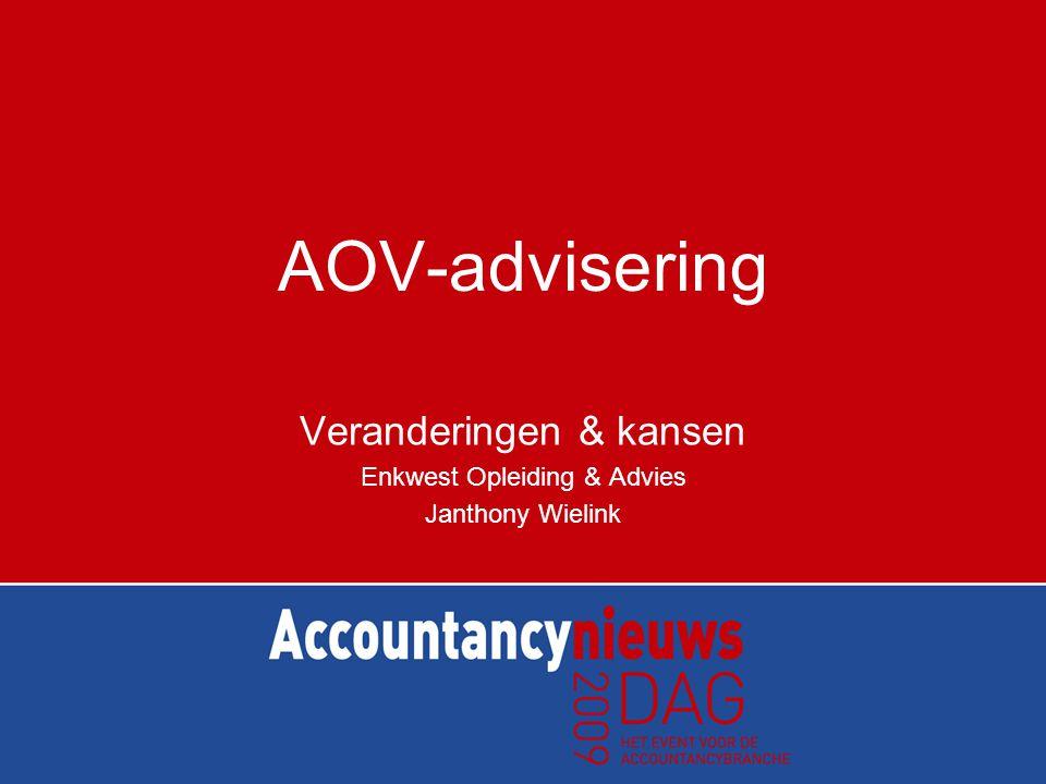 AOV-advisering Veranderingen & kansen Enkwest Opleiding & Advies Janthony Wielink