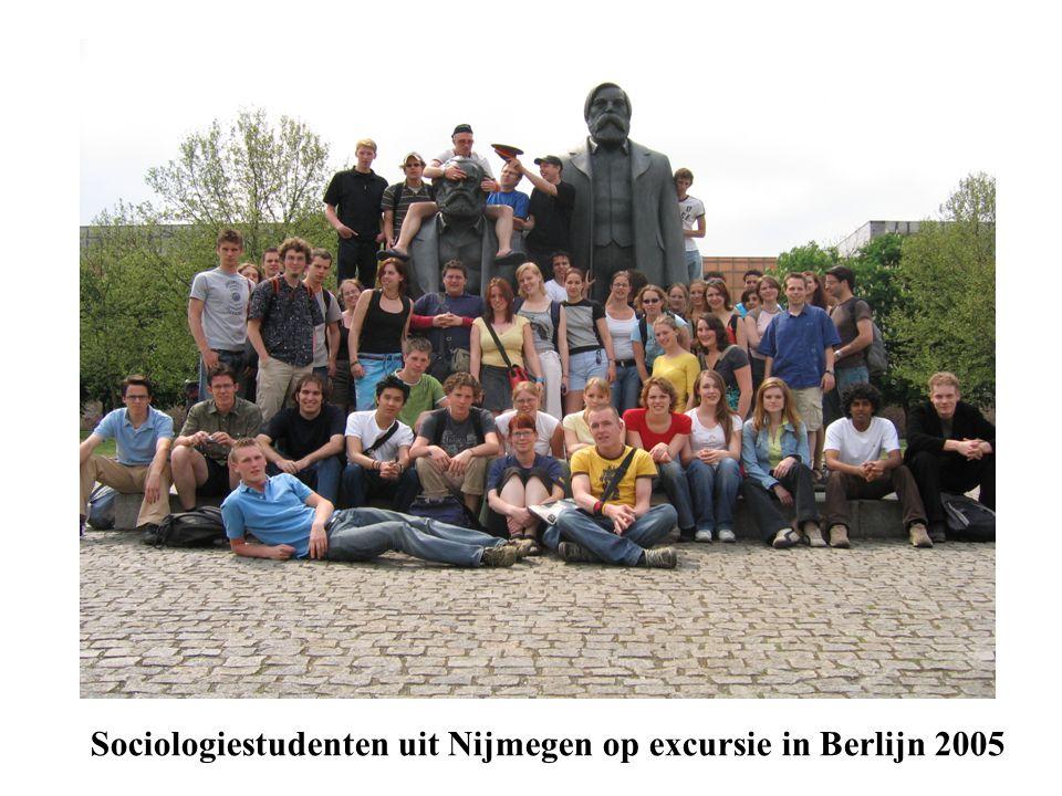 Sociologiestudenten uit Nijmegen op excursie in Berlijn 2005