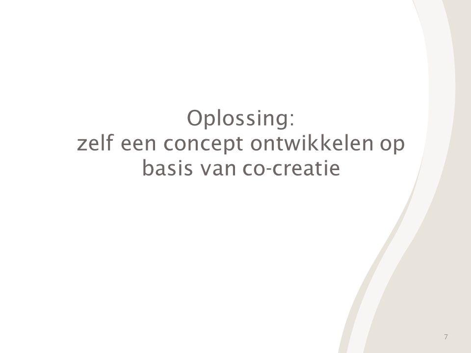 7 Oplossing: zelf een concept ontwikkelen op basis van co-creatie