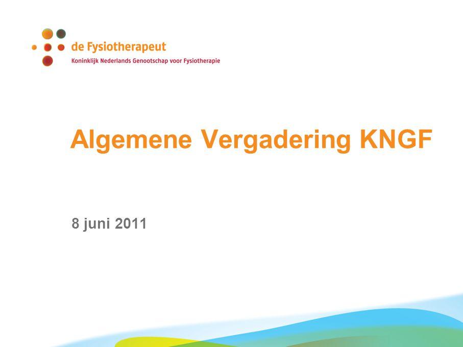 Algemene Vergadering KNGF 8 juni 2011