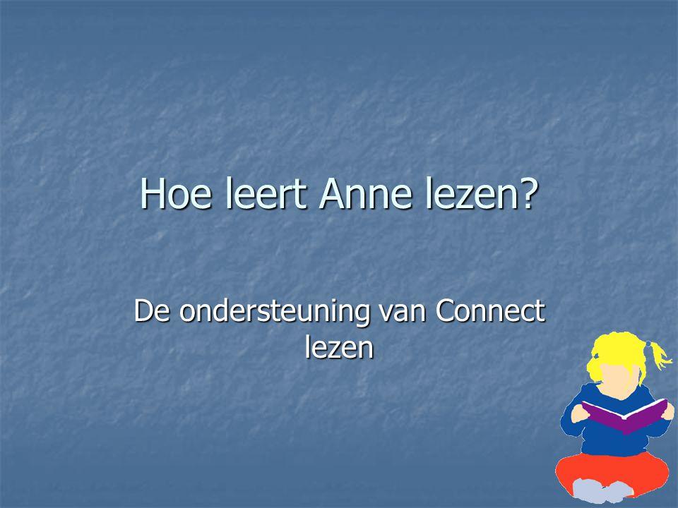 Hoe leert Anne lezen? De ondersteuning van Connect lezen