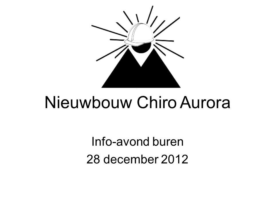 Nieuwbouw Chiro Aurora Info-avond buren 28 december 2012