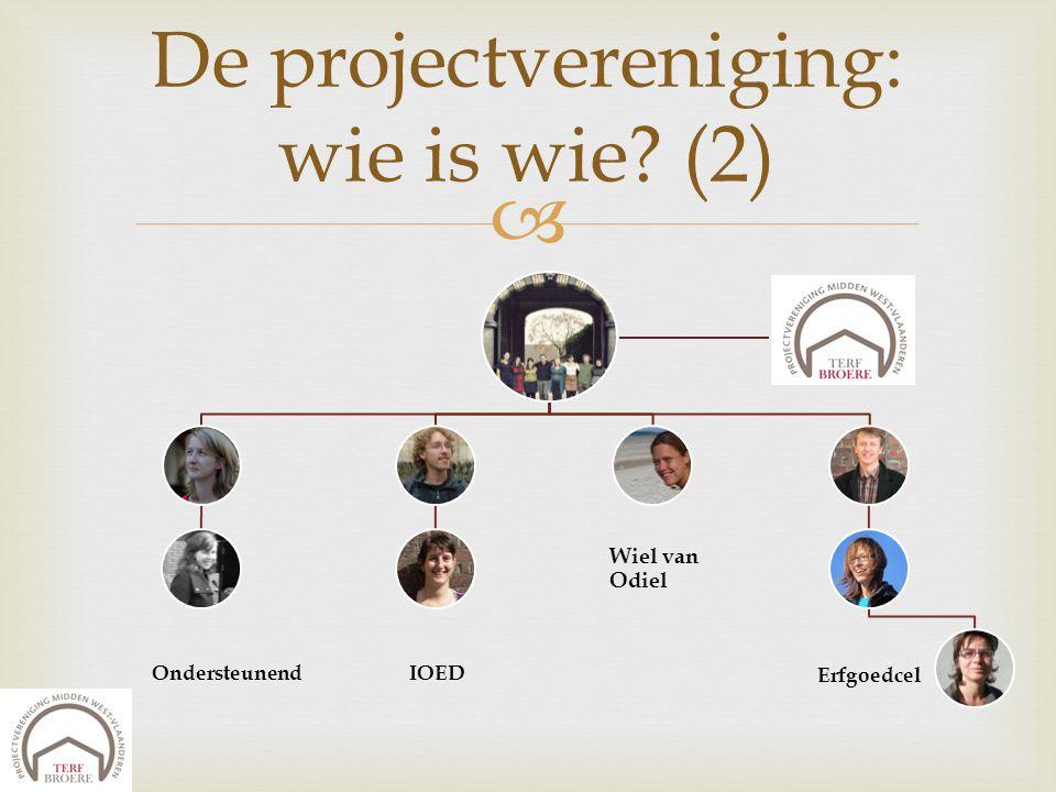  De projectvereniging: wie is wie? (2) Ondersteunend IOED Erfgoedcel Wiel van Odiel