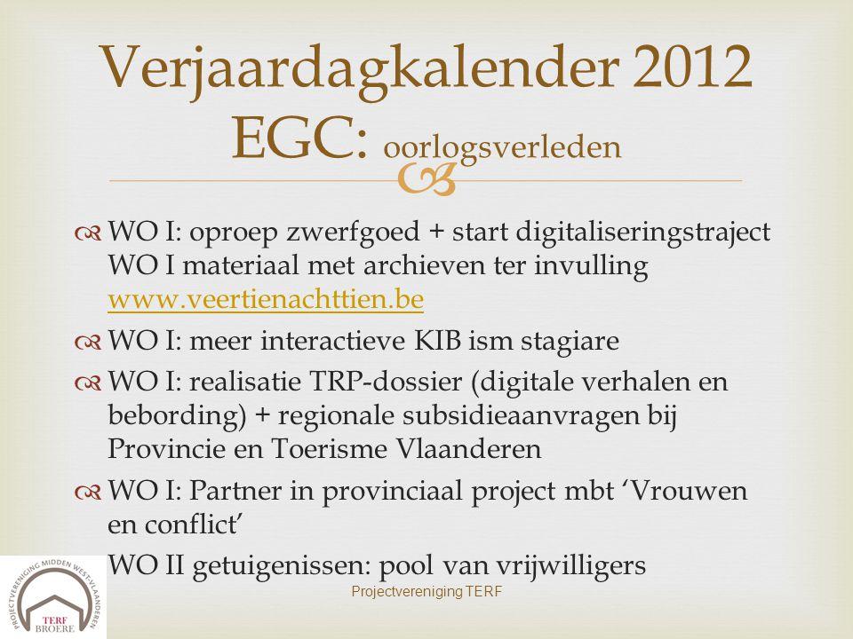   WO I: oproep zwerfgoed + start digitaliseringstraject WO I materiaal met archieven ter invulling www.veertienachttien.be www.veertienachttien.be 