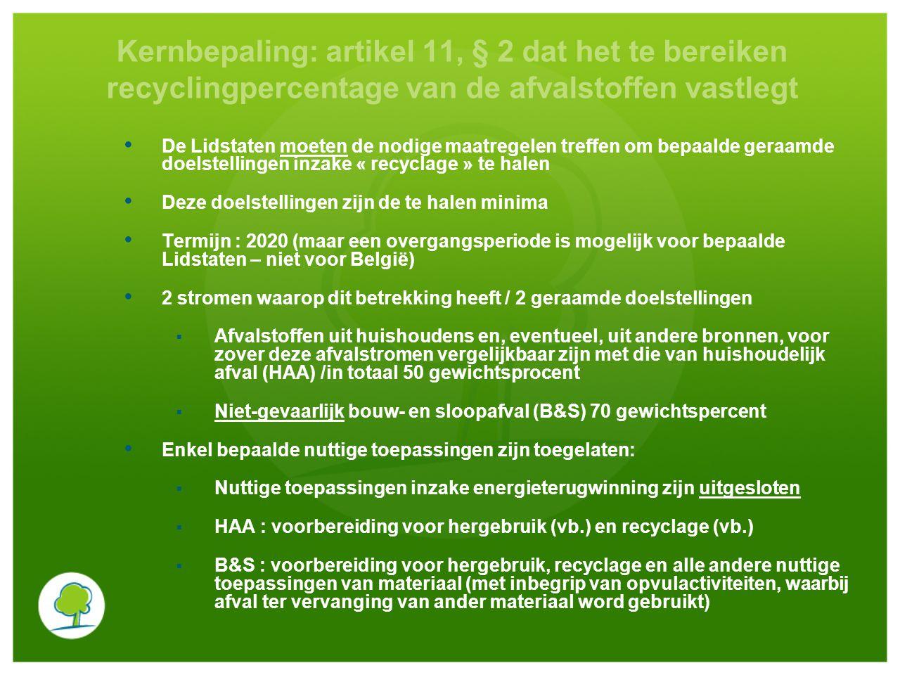 Kernbepaling : artikel 11, § 2