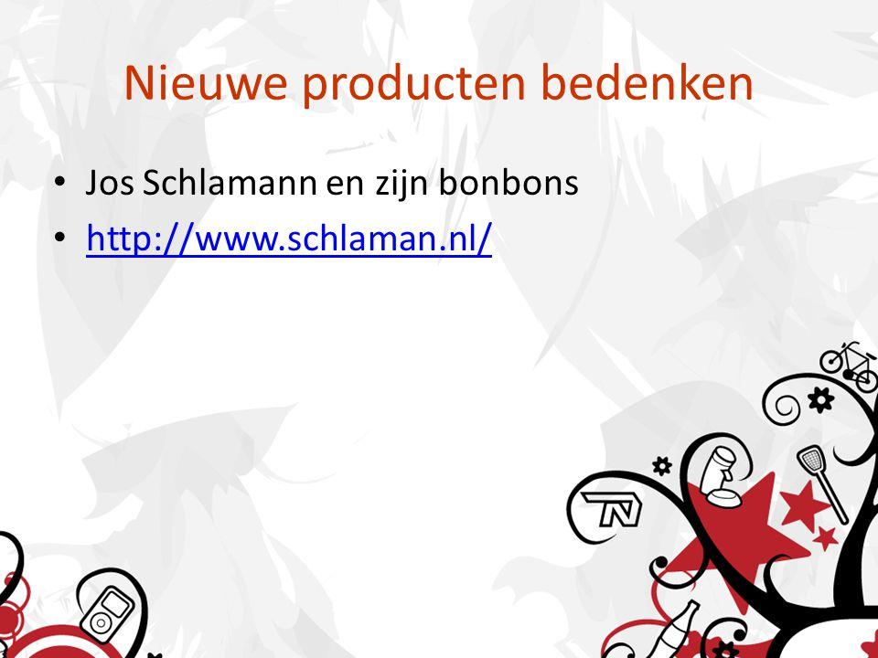 Nieuwe producten bedenken Jos Schlamann en zijn bonbons http://www.schlaman.nl/