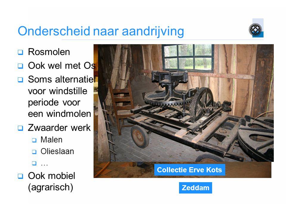 Zeddam Collectie Erve Kots Onderscheid naar aandrijving  Rosmolen  Ook wel met Os  Soms alternatief voor windstille periode voor een windmolen  Zw