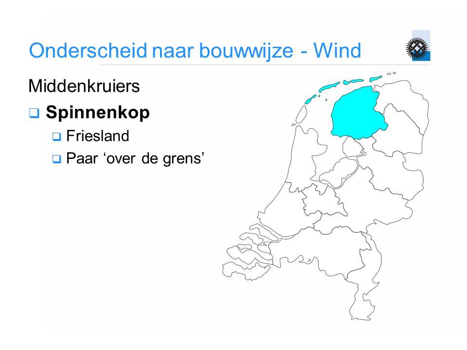Onderscheid naar bouwwijze - Wind Middenkruiers  Spinnenkop  Friesland  Paar 'over de grens'