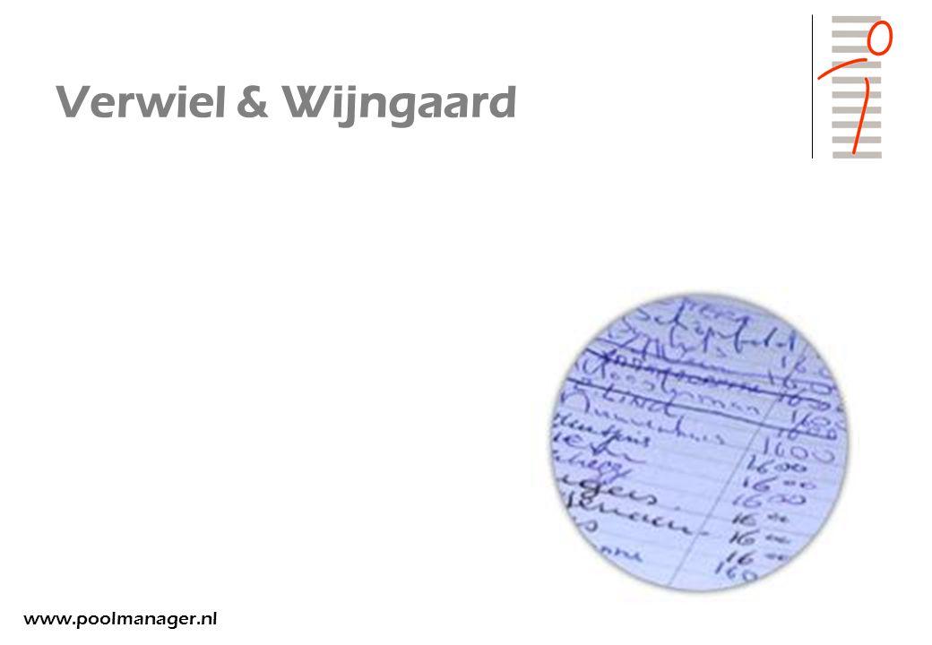 Verwiel & Wijngaard www.poolmanager.nl