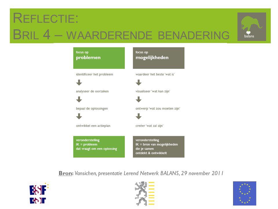 R EFLECTIE : B RIL 4 – WAARDERENDE BENADERING