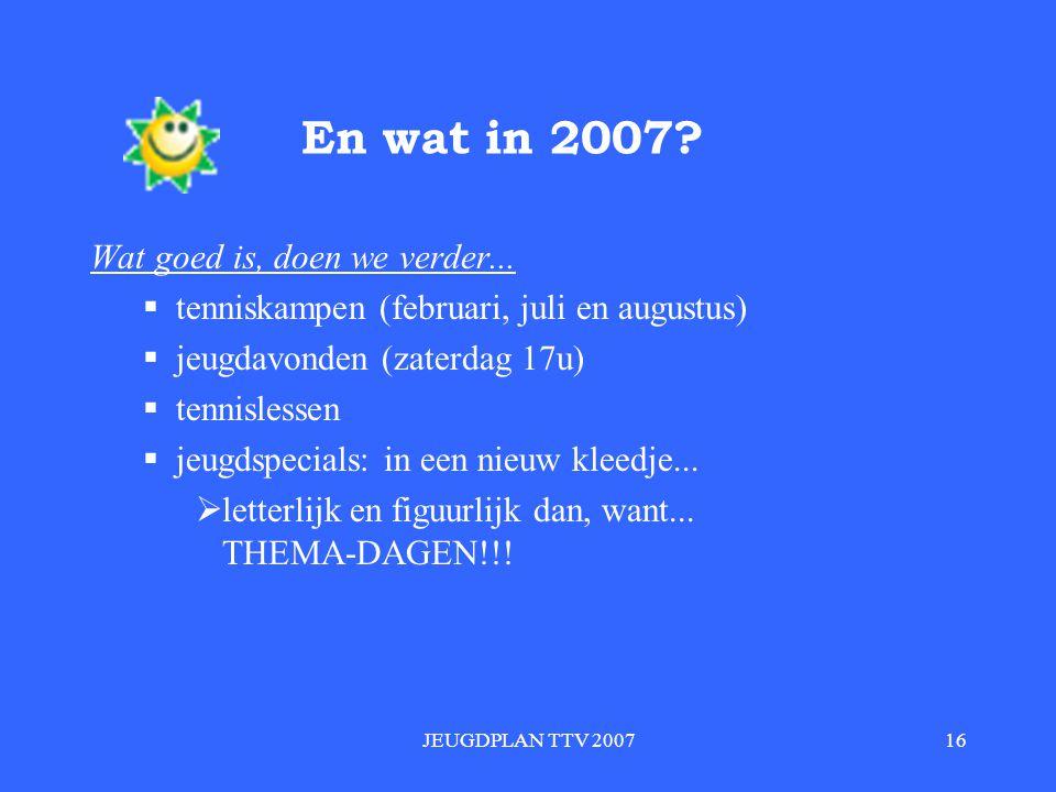 JEUGDPLAN TTV 200716 En wat in 2007.Wat goed is, doen we verder...