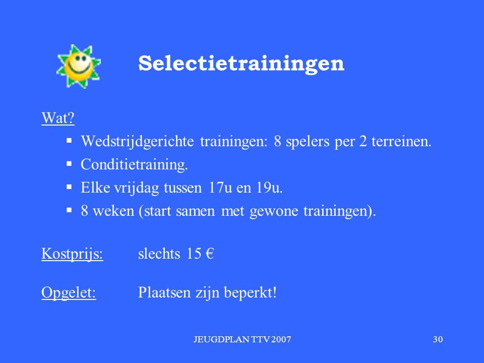 JEUGDPLAN TTV 200730 Selectietrainingen Wat.