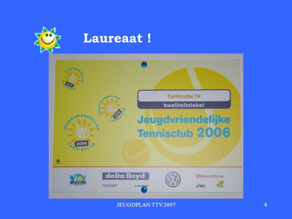 JEUGDPLAN TTV 20078 Laureaat !