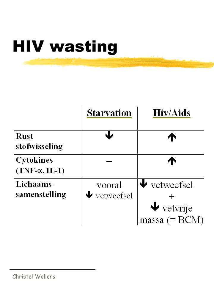 Christel Wellens HIV wasting