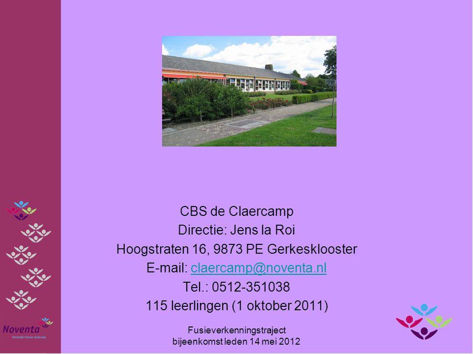 CBS de Claercamp Directie: Jens la Roi Hoogstraten 16, 9873 PE Gerkesklooster E-mail: claercamp@noventa.nlclaercamp@noventa.nl Tel.: 0512-351038 115 l