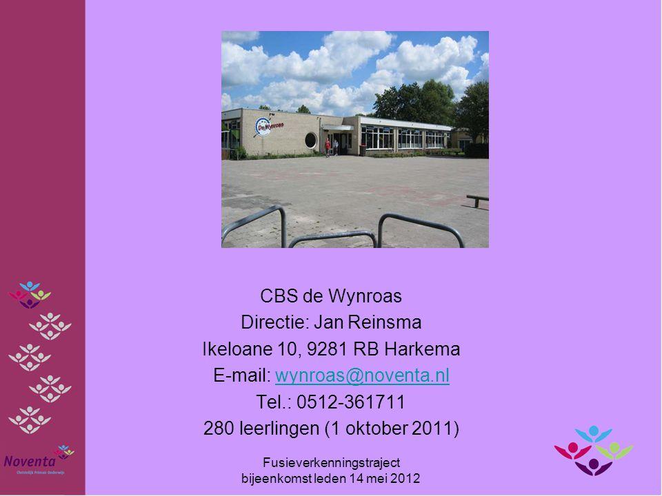 CBS de Wynroas Directie: Jan Reinsma Ikeloane 10, 9281 RB Harkema E-mail: wynroas@noventa.nlwynroas@noventa.nl Tel.: 0512-361711 280 leerlingen (1 okt