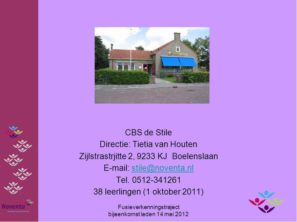 CBS de Stile Directie: Tietia van Houten Zijlstrastrjitte 2, 9233 KJ Boelenslaan E-mail: stile@noventa.nlstile@noventa.nl Tel. 0512-341261 38 leerling