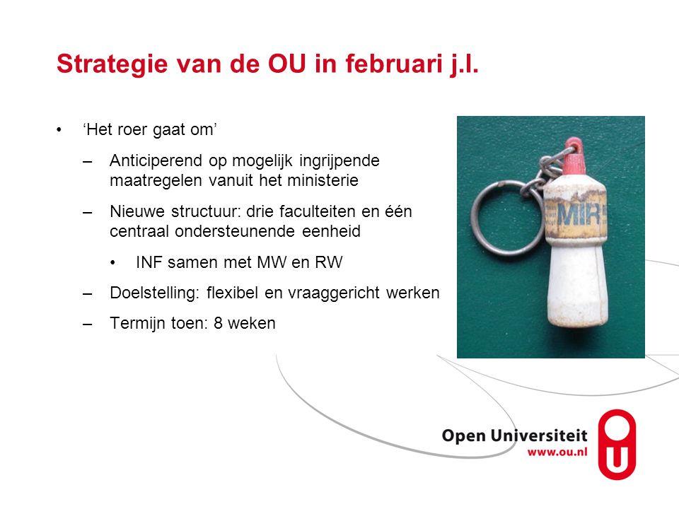 Strategie van de OU in februari j.l.