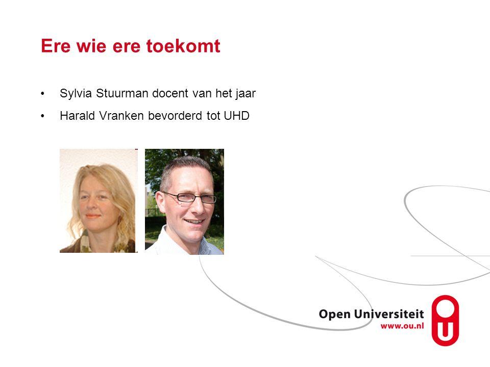Ere wie ere toekomt Sylvia Stuurman docent van het jaar Harald Vranken bevorderd tot UHD