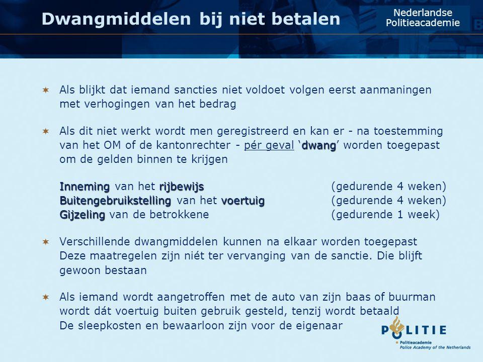 Aantal beschikkingen loopt op … Nederlandse Politieacademie Maximum snelheidStaandehoudingen