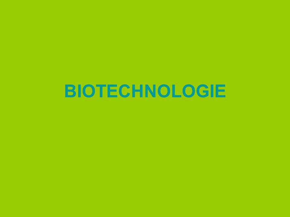 BIOTECHNOLOGIE & GEZONDHEID Voorbeeld: plant die zelf insecticide aanmaakt 1.