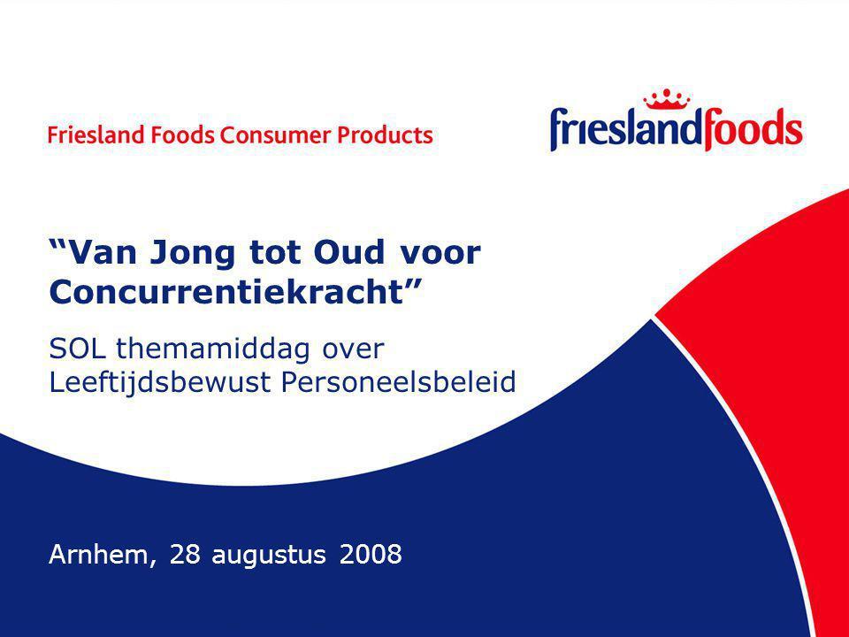 Van Jong tot Oud voor Concurrentiekracht SOL themamiddag over Leeftijdsbewust Personeelsbeleid Arnhem, 28 augustus 2008