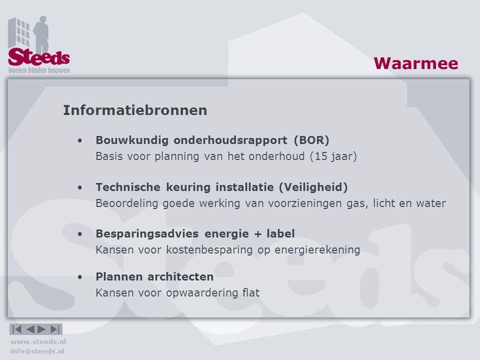 www.steeds.nl info@steeds.nl Hoe Wegwerken achterstallig onderhoud Schilderwerk Betonrot Herstel gevelankers Reparaties Waarom zou u het doen.