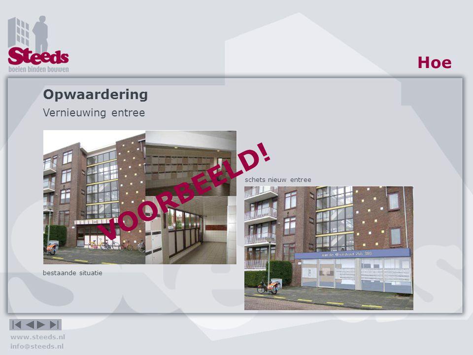 Opwaardering Vernieuwen hekwerk galerij Plaatsen lift Hoe VOORBEELD!