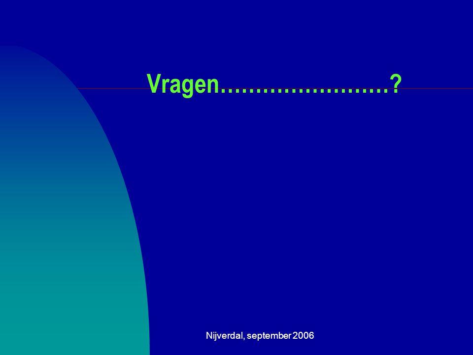 Nijverdal, september 2006 Vragen……………………