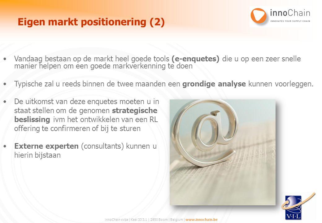 innoChain cvba | Kaai 33 3.1 | 2850 Boom | Belgium | www.innochain.be Vandaag bestaan op de markt heel goede tools (e-enquetes) die u op een zeer snel
