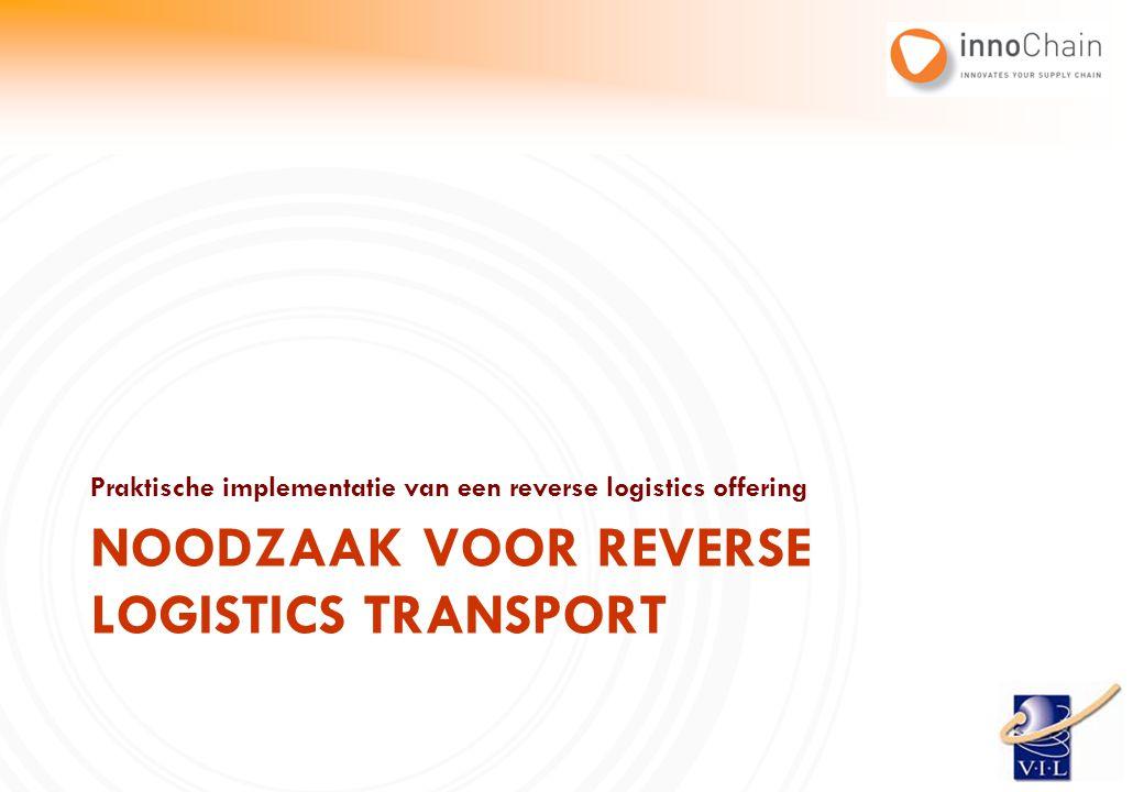 Praktische implementatie van een reverse logistics offering NOODZAAK VOOR REVERSE LOGISTICS TRANSPORT