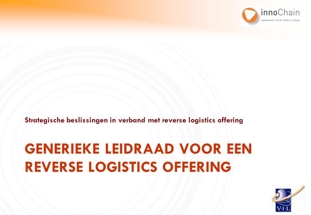 Strategische beslissingen in verband met reverse logistics offering GENERIEKE LEIDRAAD VOOR EEN REVERSE LOGISTICS OFFERING
