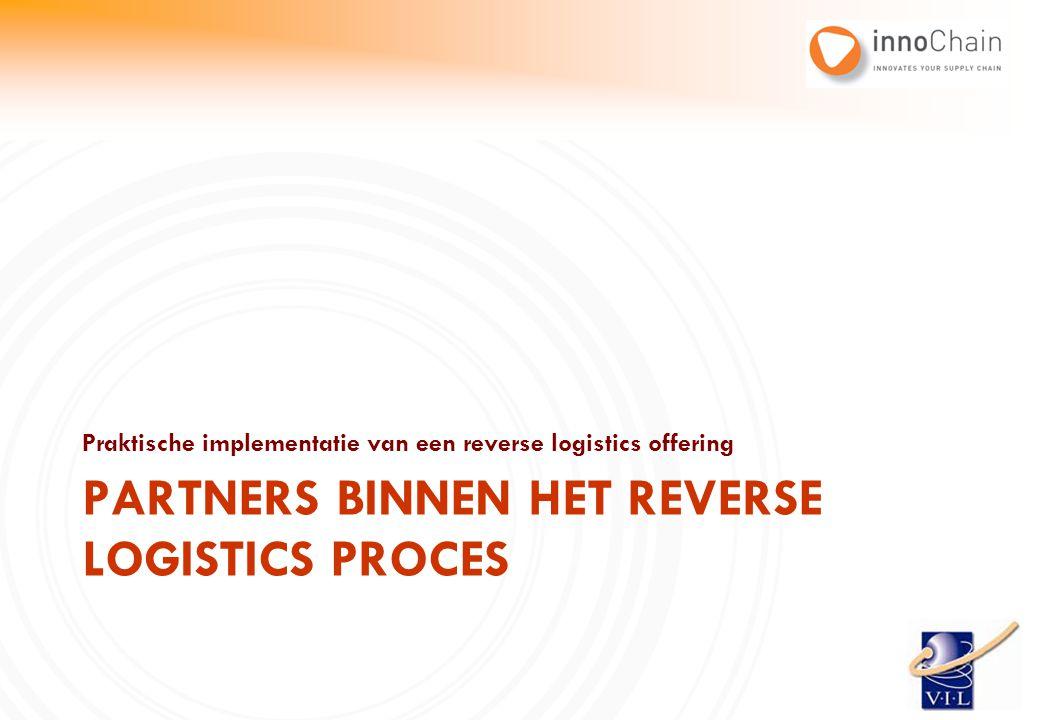 Praktische implementatie van een reverse logistics offering PARTNERS BINNEN HET REVERSE LOGISTICS PROCES