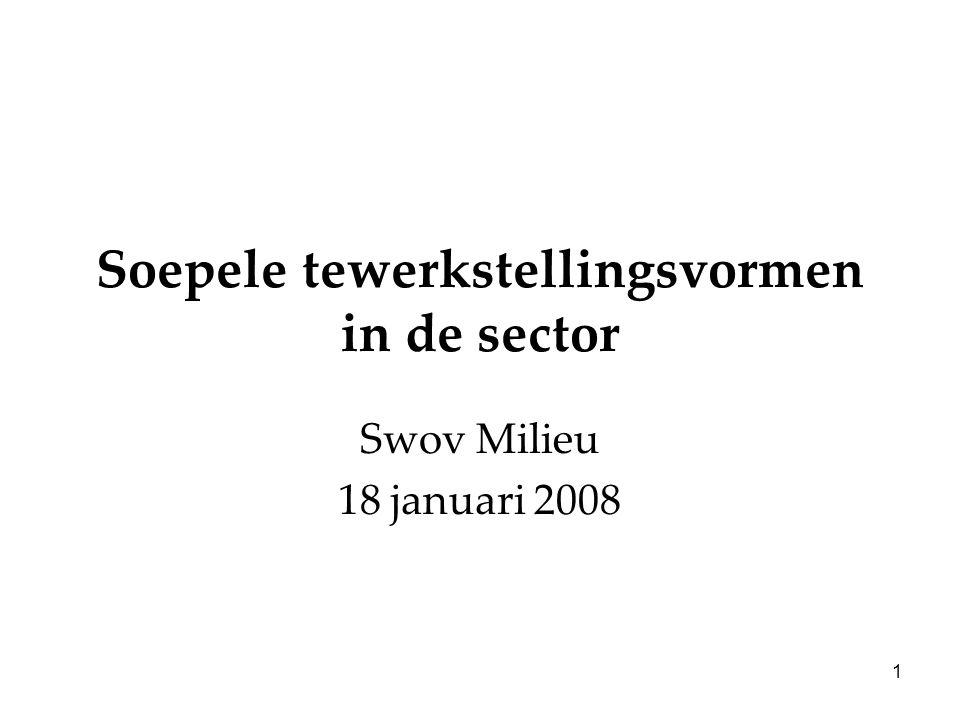 1 Soepele tewerkstellingsvormen in de sector Swov Milieu 18 januari 2008